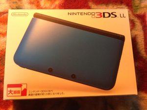 ニンテンドー3DS LLブルー箱