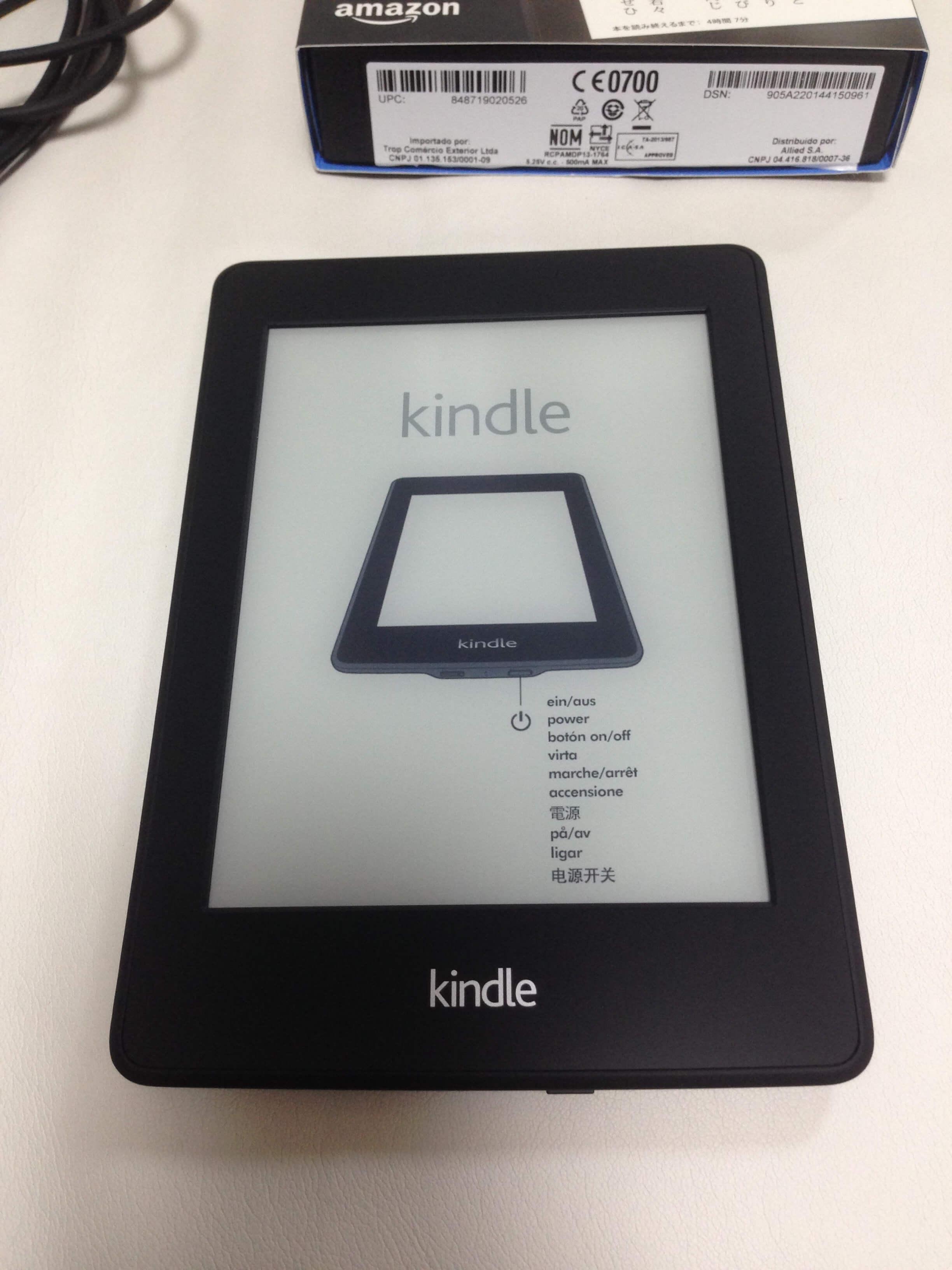 Kindle本体表
