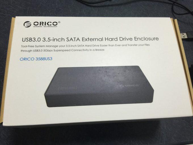 ORICO 3.5インチHDDケース 外箱