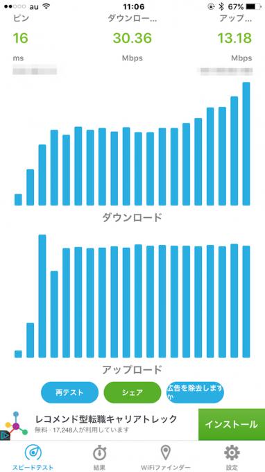 SpeedSpot解析結果画面