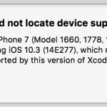 【Xcode】Could not locate device support files.のエラーが出たときの対処法【Swift】