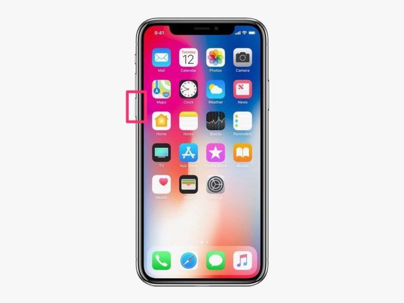 iPhone Xの音量下げるボタン