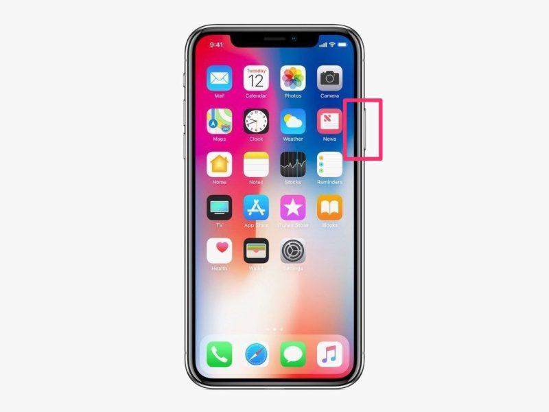 iPhone X電源ボタン