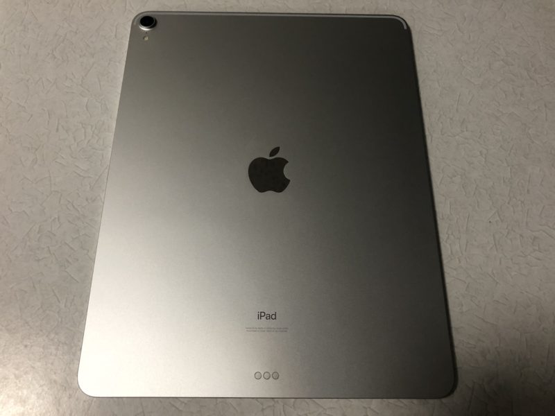 iPad Pro本体裏面