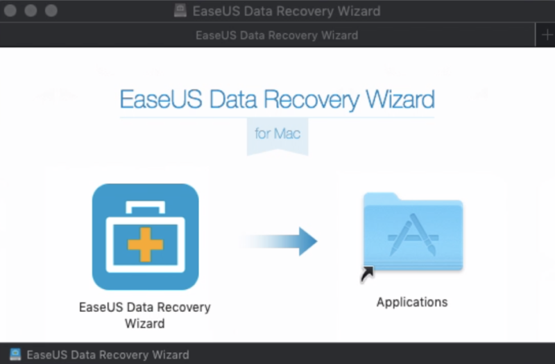 EaseUS Data Recovery Wizardをドラッグ&ドロップ