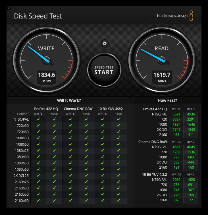 SSD計測ツール結果